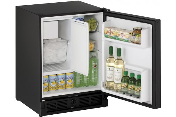 "U-Line 21"" Black ADA Compact Combo Refrigerator - U-CO29FB-00A"