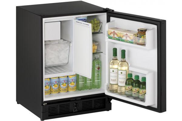 "Large image of U-Line ADA 21"" Black Compact Combo Refrigerator - U-CO29FB-00A"