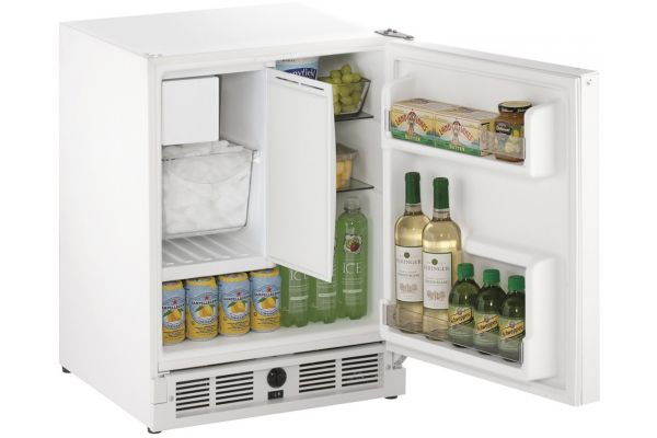 "Large image of U-Line ADA 21"" White Compact Combo Refrigerator - U-CO29FW-00A"