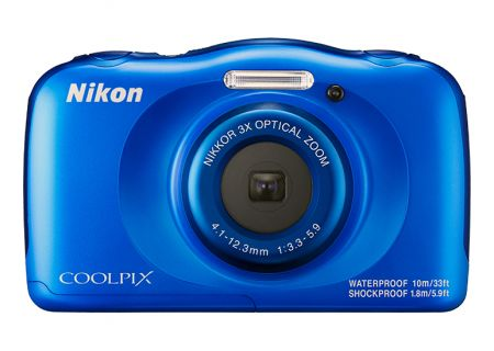 Nikon Coolpix W100 Blue 13.2 Megapixel Waterproof Digital Camera - 26516