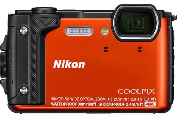 Large image of Nikon Coolpix W300 Orange 16.0 Megapixel Waterproof Digital Camera - 26524