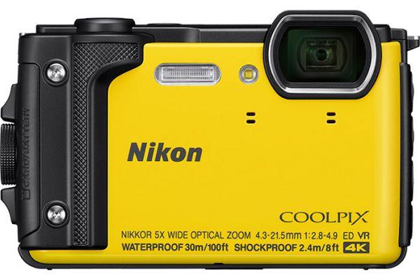 Large image of Nikon Coolpix W300 Yellow 16.0 Megapixel Waterproof Digital Camera - 26525