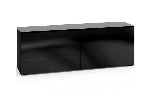 Large image of Salamander Designs Chameleon Collection Oslo Black AV Cabinet - C/OS347/BG