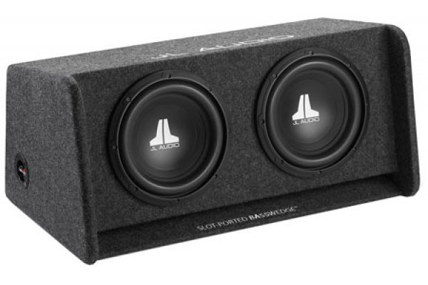 "Large image of JL Audio 10 "" BassWedge Enclosure Subwoofer - 93265"