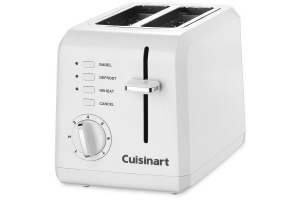 Large image of Cuisinart 2 Slice Compact Plastic Toaster - CPT-122