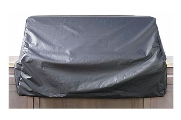 """Large image of Viking Black Vinyl Cover For 54"""" Gas Grill On Cart - CQ554BI"""