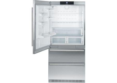 "Liebherr Counter Depth Stainless Steel 36"" Bottom-Freezer Refrigerator  - CS-2061"
