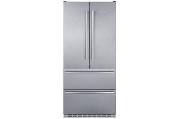 "Large image of Liebherr 36"" Stainless Steel 4-Door French Door Refrigerator With NoFrost - CS-2082"