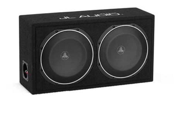 Large image of JL Audio PowerWedge Dual 10TW1 Sealed Enclosed Subwoofer System - 93316