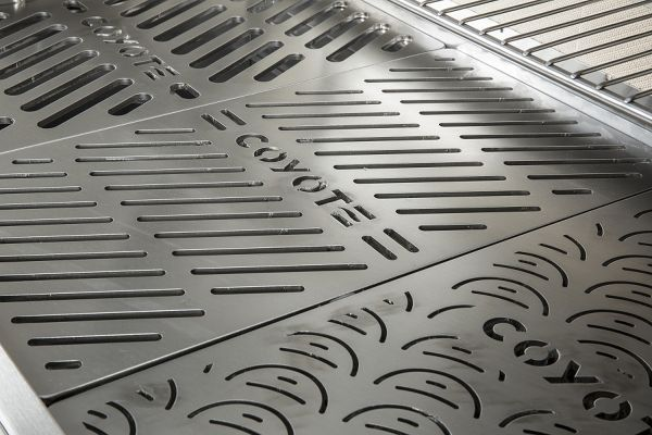 """Large image of Coyote Stainless Steel Signature Grates 3-Pack For 34"""" & 36"""" Grills - CSIGRATE12"""