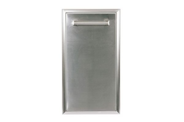 Large image of Coyote Stainless Steel Outdoor Single Pull Out Trash and Recycle - CSTC