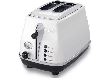 DeLonghi White Icona 2 Slot Toaster - CTO2003W