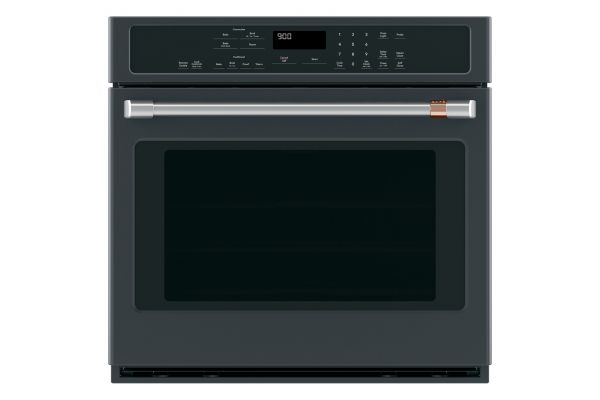 "Large image of Cafe 30"" Matte Black Built-In Single Convection Wall Oven - CTS90DP3MD1"