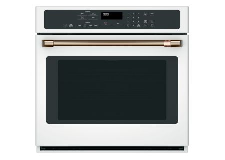 """Cafe 30"""" Matte White Built-In Single Convection Wall Oven - CTS90DP4MW2"""