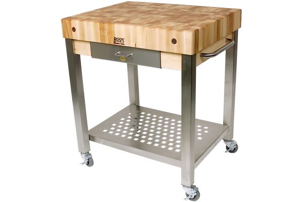 "Large image of John Boos & Co. Cucina Technica 4"" Thick Butcher Block Style Hard Maple Top - CUCT24D"