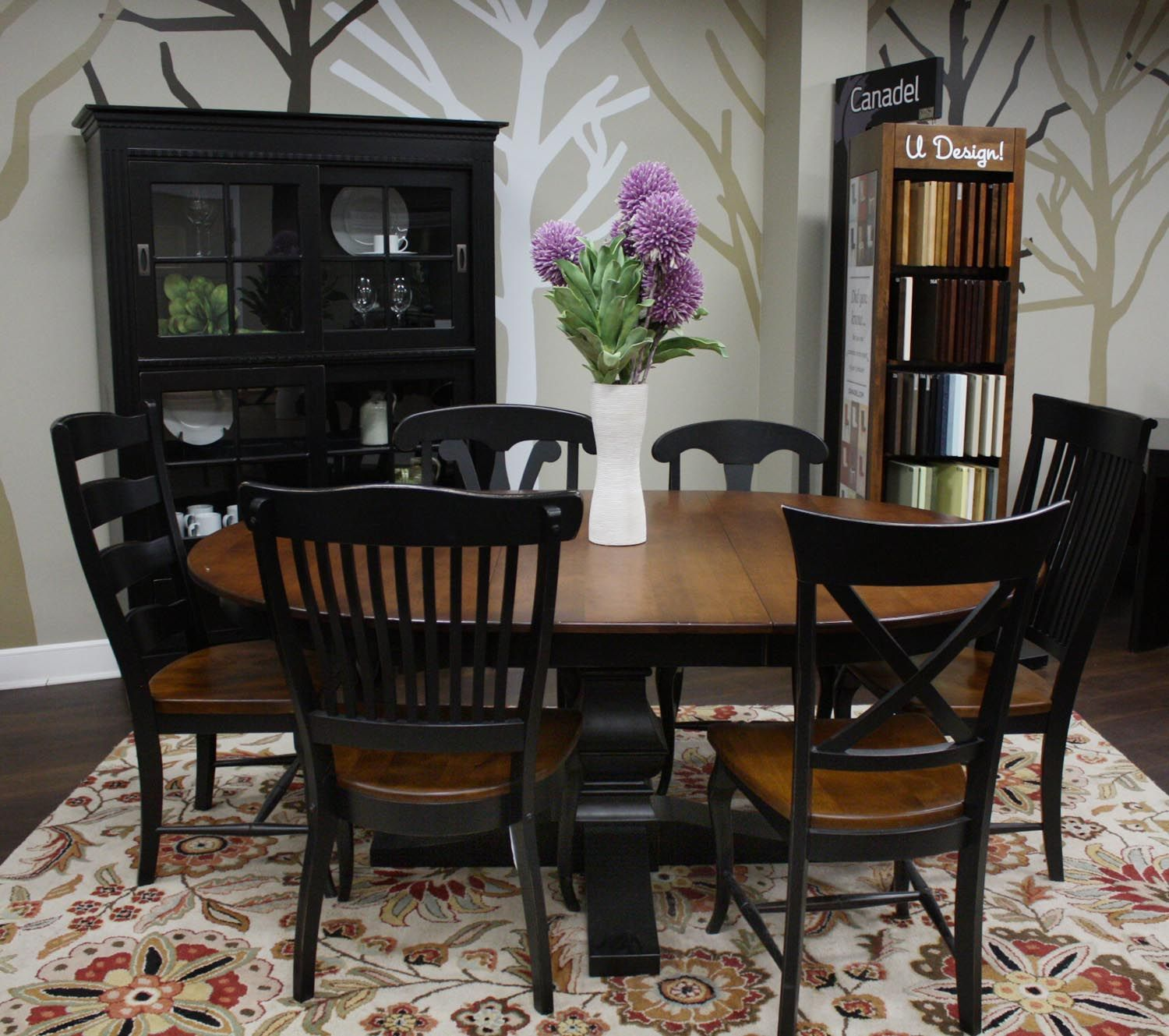 Canadel Dining Room Set Spice Amp Black Customdinepkg1