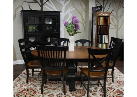 Canadel Custom Dining Collections Dining Room Set Spice Washed And Black  - CUSTOMDINEPKG1