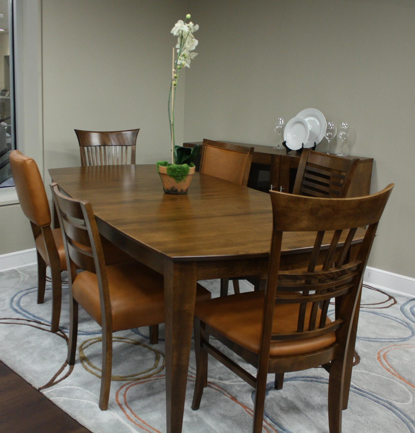 Canadel custom dining room set customdinepkg