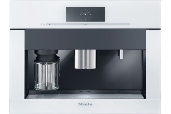 """Large image of Miele 24"""" Brilliant White Plumbed Built-In Coffee System - 09676950"""