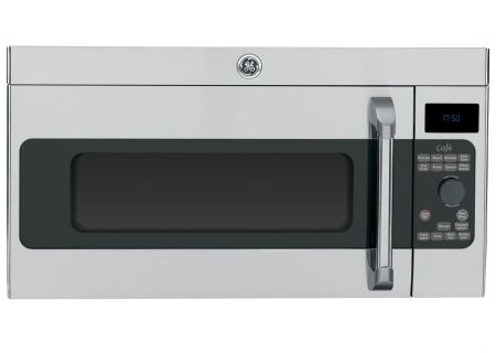 GE Cafe 1.7 Cu. Ft. Stainless Steel Over The Range Microwave Oven - CVM1750SHSS