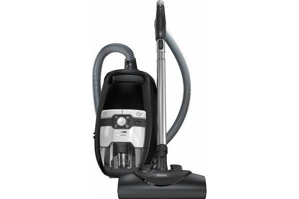 Large image of Miele Blizzard CX1 Electro+ PowerLine Black Canister Vacuum - 10796540