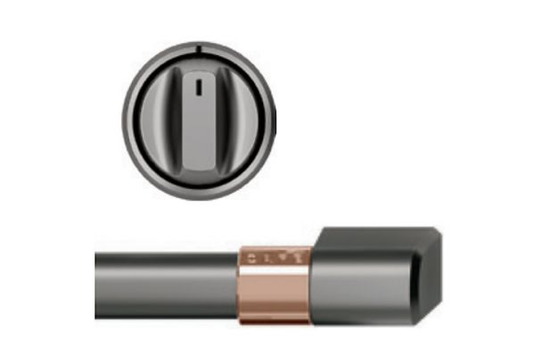 Large image of Cafe Brushed Black Front Control Electric Knobs and Handles - CXFCEHKPMBT
