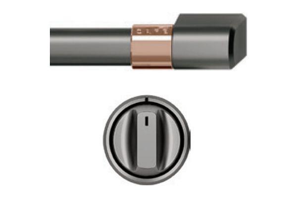 """Cafe 36"""" Brushed Black Handle & Knob Set For Pro Range - CXPR6HKPMBT"""