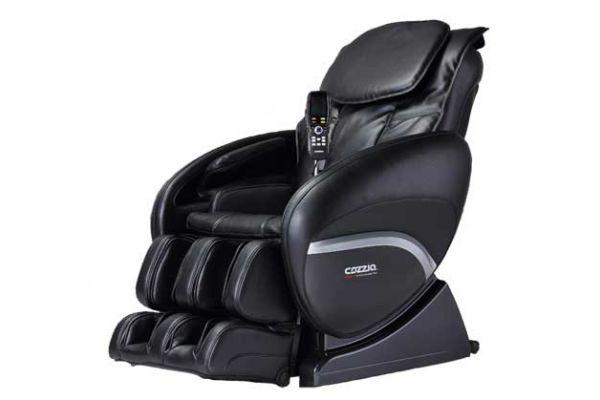 Large image of Cozzia 2D Black Reclining Massage Chair - CZ388BLK