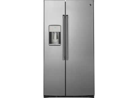 GE Cafe Stainless Steel Counter-Depth Side-By-Side Refrigerator - CZS22MSKSS