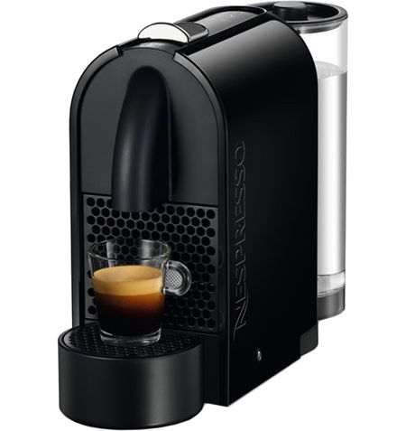 nespresso u pure black espresso machine d50usbk abt. Black Bedroom Furniture Sets. Home Design Ideas