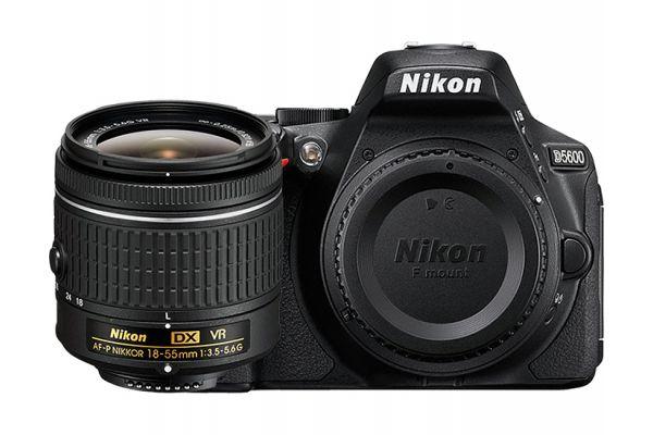 Nikon D5600 Black Digital SLR Camera 18-55mm VR Lens Kit - 1576