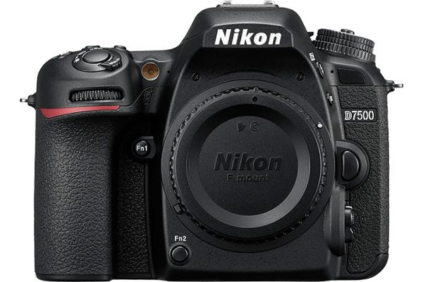 Large image of Nikon D7500 Black Digital SLR Camera Body - 1581
