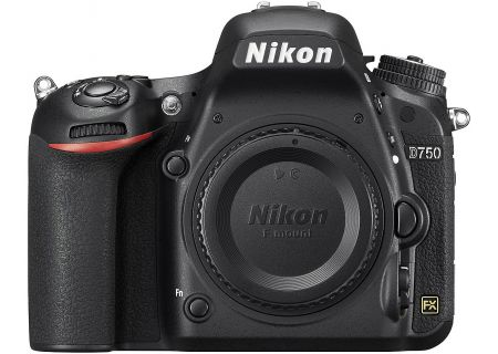 Nikon D750 24.3 Megapixel Black Digital SLR Camera - D750BODY - 1543