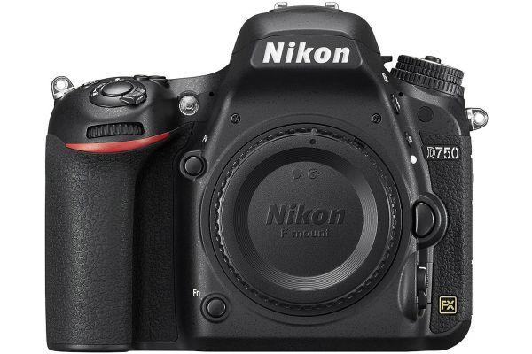 Large image of Nikon D750 24.3 Megapixel Black Digital SLR Camera - 1543