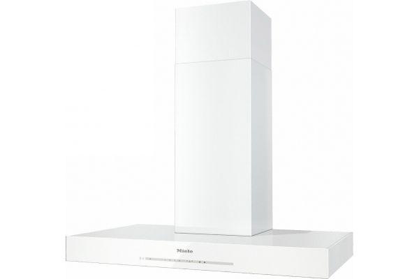 "Large image of Miele 36"" Puristic Brilliant White Wall Hood - 10134250"