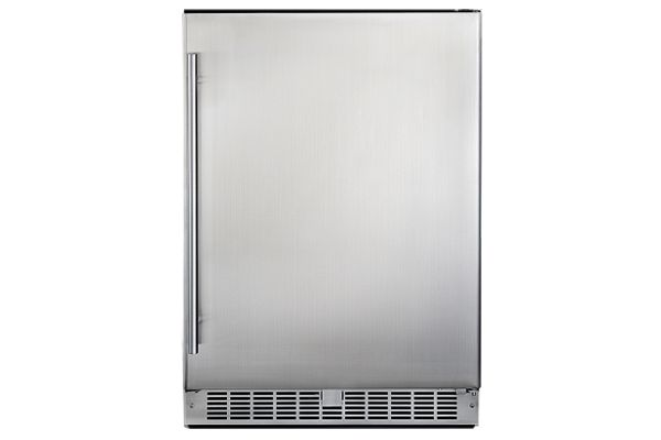 Large image of Danby Silhouette Aragon 5.5 Cu. Ft. Smudge-Resistant Stainless Steel Right-Hinge Outdoor Refrigerator - DAR055D1BSSPRO