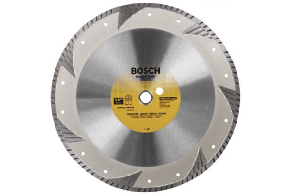"Large image of Bosch Tools 14"" Premium Plus Turbo Rim Diamond Blade - DB1463"