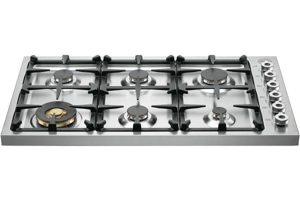 "Bertazzoni 36"" Professional Series Stainless Steel Drop-In Gas Cooktop - DB36600X"