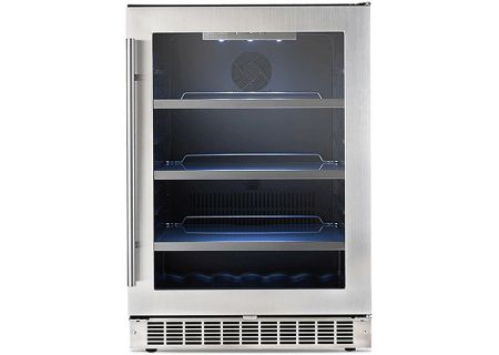 """Danby Silhouette Professional Saxony 24"""" Stainless Steel Single Zone Beverage Center - DBC056D4BSSPR"""