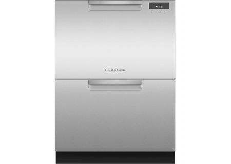 "Fisher & Paykel ADA 24"" Stainless Steel Double DishDrawer Dishwasher - DD24DAX9_N"