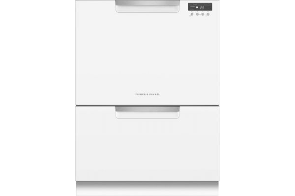 """Large image of Fisher & Paykel 24"""" White Double DishDrawer Dishwasher - DD24DCTW9N"""