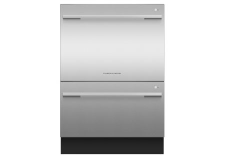 Fisher & Paykel Stainless Steel Tall Double DishDrawer - DD24DDFTX9N
