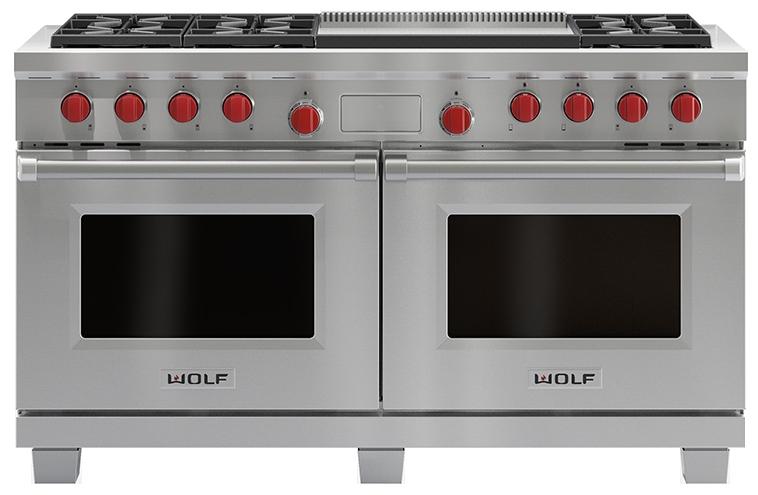 Double Oven Griddle ~ Wolf quot dual fuel double oven range w griddles df dg