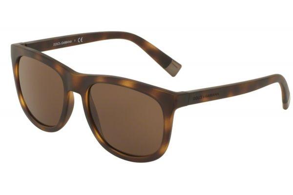 Large image of Dolce & Gabbana Matte Dark Havana Square Mens Sunglasses - DG6102302873