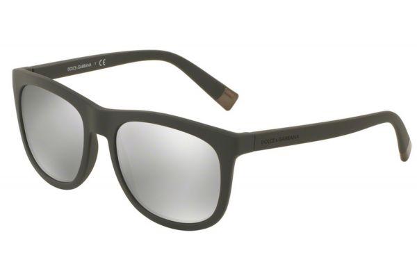 Large image of Dolce & Gabbana Matte Dark Grey Square Mens Sunglasses - DG610230326G