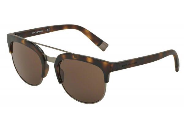 Large image of Dolce & Gabbana Matte Dark Havana Square Mens Sunglasses - DG6103302873