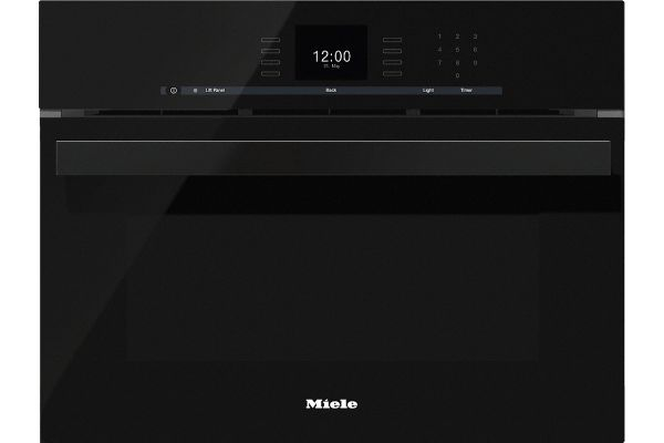 """Large image of Miele 24"""" Obsidian Black PureLine Combi-Steam Oven - 10256740"""