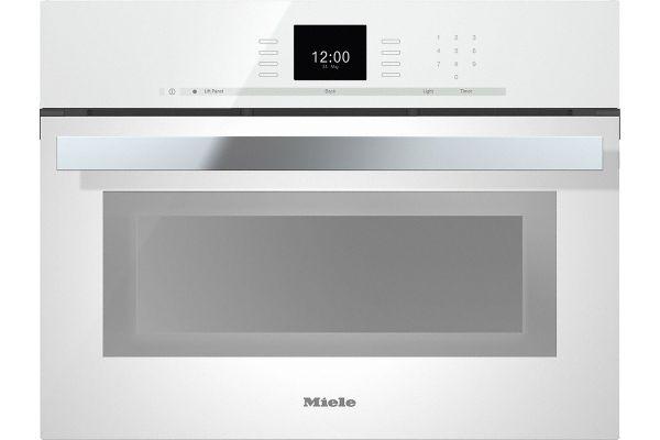 """Large image of Miele 24"""" Brilliant White PureLine Combi-Steam Oven - 10256710"""