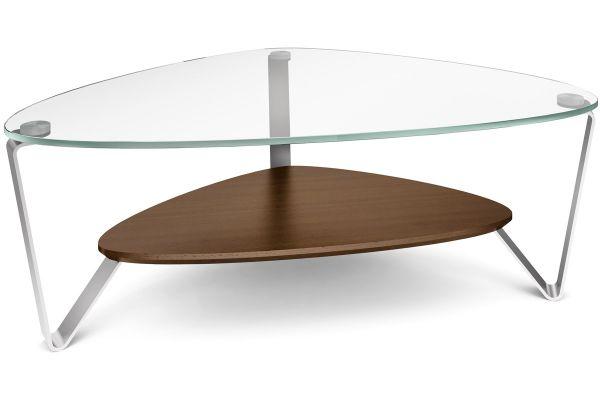 BDI Dino Small Chocolate Walnut Triangular Coffee Table - DINO1344CWL