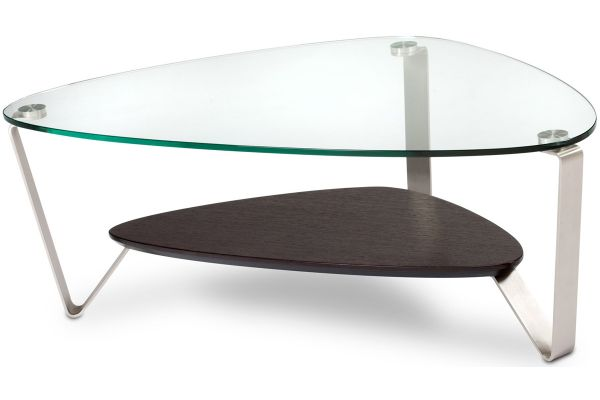 Large image of BDI Dino Small Espresso Stained Oak Triangular Coffee Table - DINO1344ES